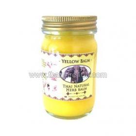 Натуральный Желтый тайский бальзам со слоном Thai Natural Herb Balm