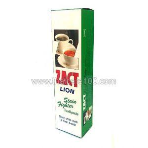 Зубная паста для кофеманов Zact Lion Toothpaste Stain Fighter
