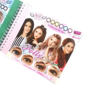 Корейские цветные линзы, увеличивающие глаза. Модель Polly