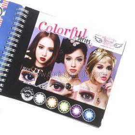 Корейские цветные линзы, увеличивающие глаза. Модель Colorful