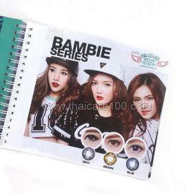 Корейские цветные линзы, увеличивающие глаза. Модель Bambie