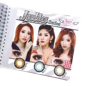 Корейские цветные линзы, увеличивающие глаза. Модель Julia