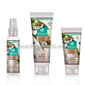 Крем для тела  с органическим кокосовым маслом Sabai Arom Coconut de Samui Body Cream