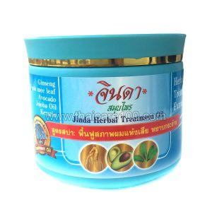 Спа-маска с кератином для стимуляции роста волос Jinda Herbal Hair Spa Treatment