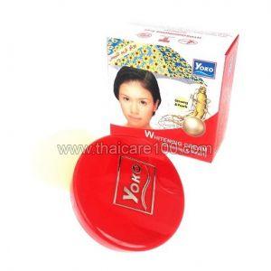 Отбеливающий крем для лица с женьшенем и жемчугом Yoko Whitening Cream Ginseng&Pearl