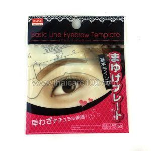 Трафарет для создания идеальных бровей Basic Line Eyebrow Template Daiso
