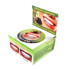 Отбеливающая зубная паста на основе натурального масла гвоздики Бамбук и Уголь