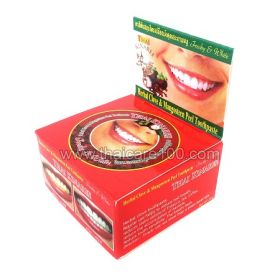 Отбеливающая зубная паста Thai Kinaree на основе натурального масла гвоздики с  корой Мангустина