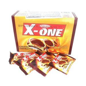 Тарталетки с карамельным и кокосовым пралине с шоколадом X-One