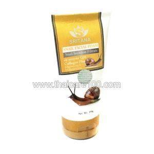 Улиточная пенка для умывания Sritana Snail Facial Foam