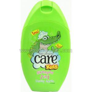 Шампунь без слез с яблочным ароматом Care Kids 2 in 1 shampoo Nutty Apple (250 мл)