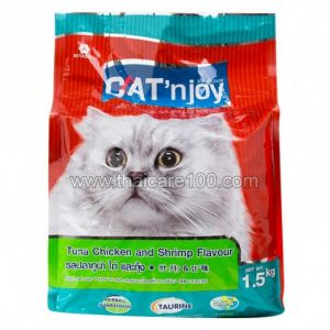 Сухой корм для кошек Тунец, курица и креветка Cat N' Joy Cat Food (1500 гр)
