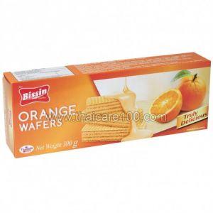 Апельсиновые вафли Bisquini Orange Wafer