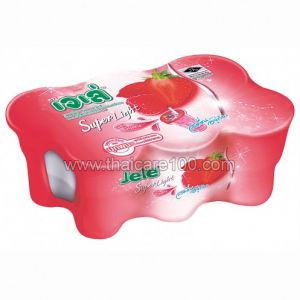 Клубничное супер-легкое желе Super Light Jelly Mixed Berry  в стаканчике с трубочкой (6 шт)