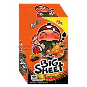 """Сушеные листья нори со вкусом """"Том ям"""" Fried Seaweed Big Sheet Tom Yum Gung (12 шт)"""