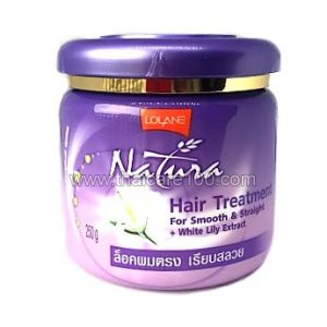 Маска для выпрямления и питания волос с белой лилией Lolane