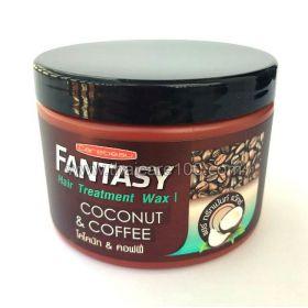 Восстанавливающая маска с кофе и кокосом Carebeau Fantasy Hair