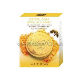 Антивозрастное кристальное мыло для лица на основе меда Королевских пчел Crystal Soap Royal Jelly Honey
