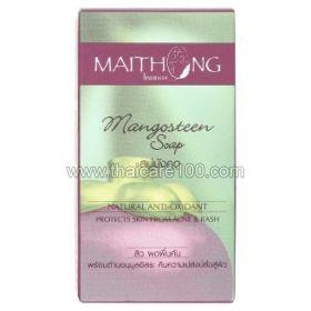 Мангустиновое мыло против акне и сыпи на коже Maithong