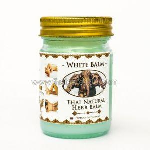 Белый Тайский Бальзам со слоном Thai Kinaree