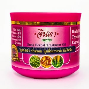 Спа-маска с кератином для активации роста волосяных луковиц Jinda Herbal Hair Spa