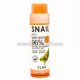 Питательный тоник T.L.BAI Snail and Aloe Soothing Gel 98% с улиткой