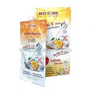 Крем-сыворотка с улиточным муцином и витамином С Vit C Snail White