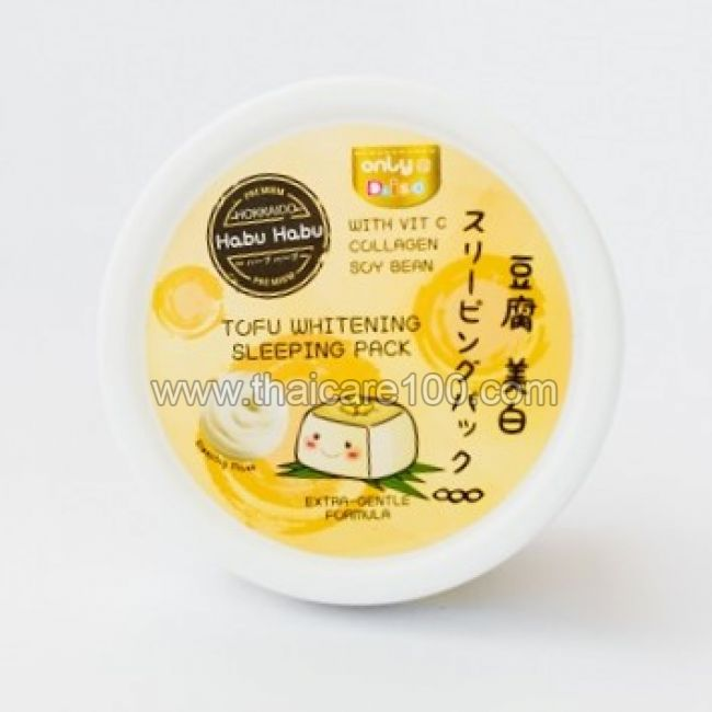 Японская ночная отбеливающая  маска Tofu Whitening Sleeping Mask Daiso