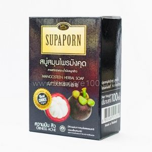 Мыло травяное с мангустином Mangosteen Herbal soap от акне и жирной кожи