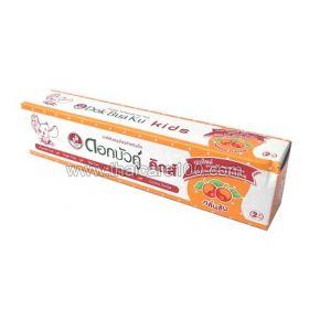 Детская травяная зубная паста для чувствительной эмали Dok Bua Ku