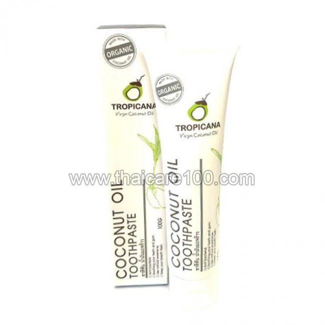 Зубная паста на основе кокосового масла Tropicana