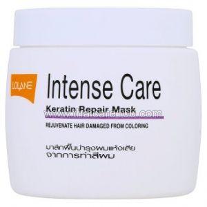 Омолаживающая маска с кератином для поврежденных окрашиванием волос Lolane