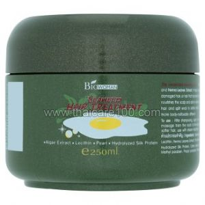 Лечебная маска для волос с морскими водорослями и шелковым протеином Bio-Woman
