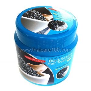 Маска  с черным кунжутом от выпадения волос Carebeau