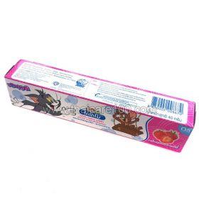 Клубничная паста-гель Kodomo Toothpaste для детей от 5 месяцев