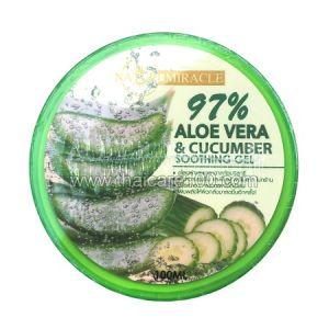 Увлажняющий и успокаивающий гель Aloe Vera&Cucumber Soothing Gel от Nature Republic с алое-вера и огурцом