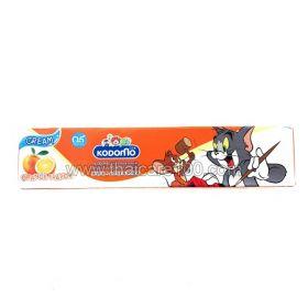 Детская зубная паста-крем со вкусом  Апельсина и Клубники с двойной защитой Kodomo Cream c 5 месяцев