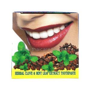 Отбеливающая тайская зубная паста Siam Herb Extra Virgin с мятой и маслом гвоздики