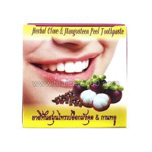 Отбеливающая тайская зубная паста Siam Herb Extra Virgin с лечебной гвоздикой и Мангустином