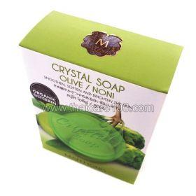 Кристальное мыло для лица с экстрактом Нони и Оливкого масла Crystal Soap Olive/Noni