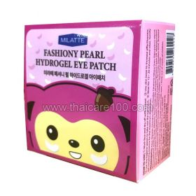 Anti-edematous hydrogel patches with pearls Milatte Fashiony Pearl Hydrogel Eye Patch