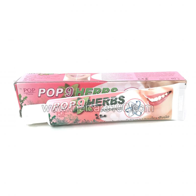 Зубная паста 9 трав Pop 9 Herbs Toothpaste