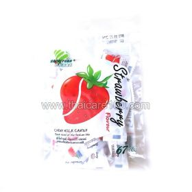 Dairy chewy candy with jelly center of natural fruit