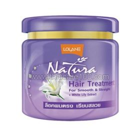 Mask for straightening and feeding hair with white lily Lolane