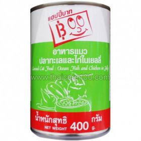 "Cat food ""Ocean fish and chicken in jelly"" Happy Baht Canned Cat"