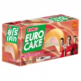 Biscuit cakes with strawberry cream EURO Brand Puff Cake Strawberry (6 pcs)