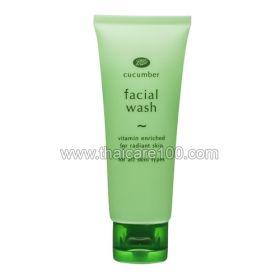 Moisturizing and refreshing face gel Boots Cucumber Facial Wash