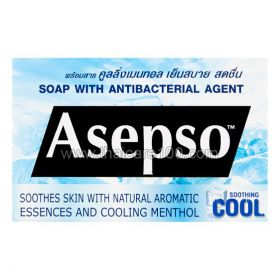 Asepso anti-bacterial soap with menthol and cooling effect