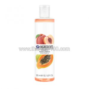 Шампунь Boots Ingredients Shampoo Peach & Papaya с экстрактами персика и папайи