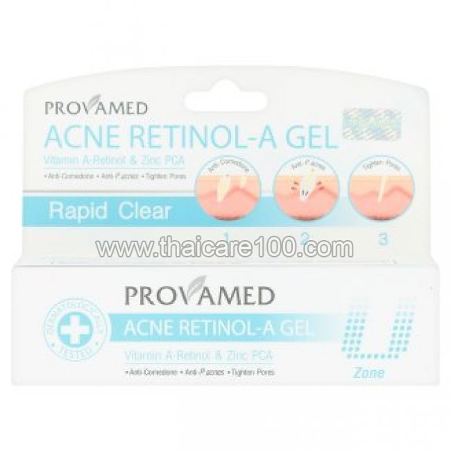 Гель от акне с ретинолом А Provamed Rapid Clear Acne Retinol-A Gel